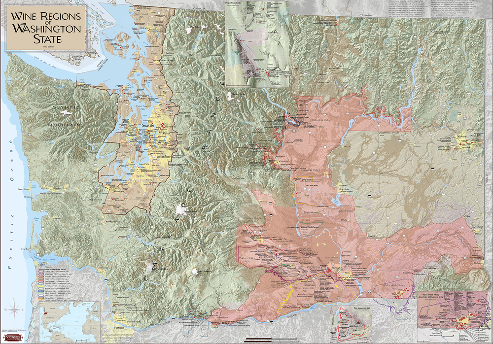 Washington State Wine Regions - Second Edition